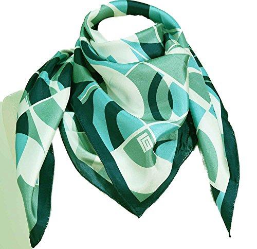 guy-laroche-carre-en-soie-demi-cercles-bleu-vert