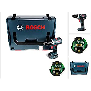 Bosch GSR 18 V-60 C Professional Li-Ion Brushless Akku Schlagbohrschrauber Solo in L-Boxx mit GCY 30-4 Professional Connectivity Modul
