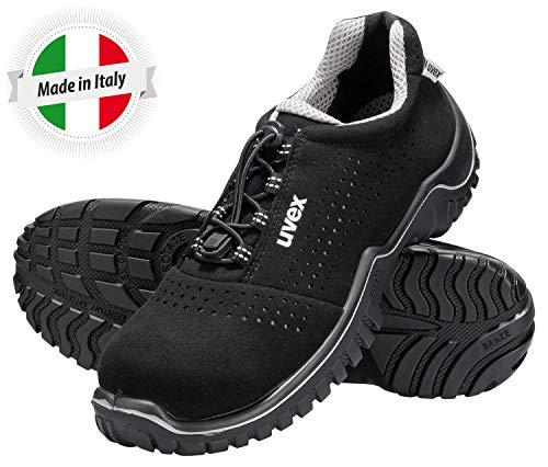 Uvex Motion Style Scarpe da Lavoro Antinfortunistiche S1 SRC | Scarpa Antinfortunistica Bassa | Puntale in Acciaio | Nero