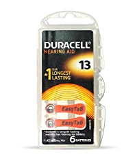 Duracell Easytab Hearing Aid 1.45 V Camera Batteries - Size 13 (Pack of 6)