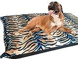 KosiPet® Large Deluxe High Density Foam Mattress Waterproof Dog Bed Beds Tiger Fleece