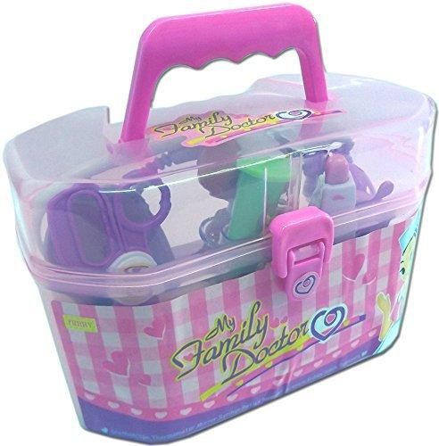 Spielzeug Arztkoffer mit umfangreichem, funktionierendem Zubehör (pink) - 2