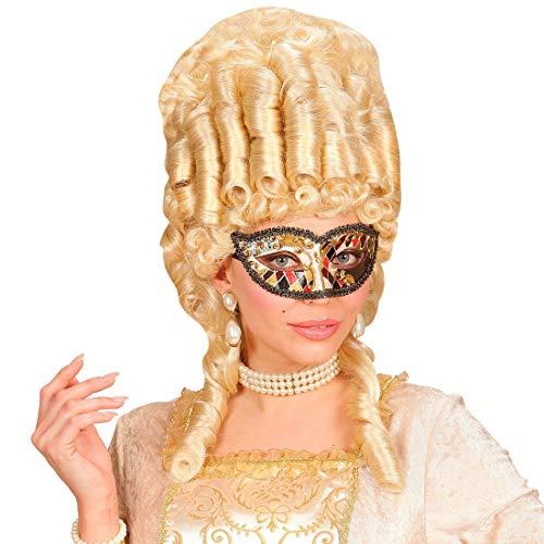 NET TOYS Elegante Harlekin-Maske Venedig für Damen & Herren - Aufregende Unisex-Maskerade Augenmaske Eulenspiegel - Genau richtig für Maskenball & Kostümfest