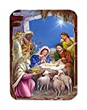 Caroline's Treasures The Wise Men At The Nativity Christmas Glass Cutting Board, Large, Multicolor