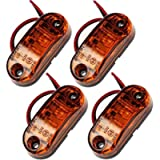 PROZOR Side Light 4PCS Waterproof LED Side Marker Lights 12V/24V Amber Bright LED Side Lights for Car Truck Van Trailers…