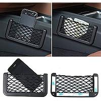 Yunnyp Car Trunk Roof Storage Net Pocket,70 120cm Car Rear Trunk Luggage Cargo Organizer Elastic Net Mesh Holder Universal