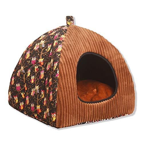 Rosennie_Haustiere Hund Katze Zwinger Haus Winter Warm Haustier Nest Haustier Bett Hundehütte Haustier Indoor Bett Kleine und mittelgroße Haustiere Weiche Faltbare Schlafmatte Pad (M, Mehrfarbig B1) (Indoor-hundehütte Für Mittelgroße Hunde)