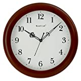 WOOD CRAFT w-1002c round wall clock (dar...