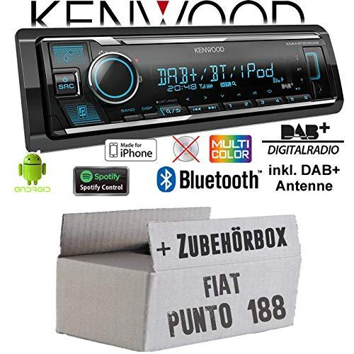 USB Autoradio Radio JVC KD-X151 JUST SOUND best choice for caraudio Einbauzubeh/ör Android 4x50Watt MP3 Einbauset f/ür FIAT Punto 188