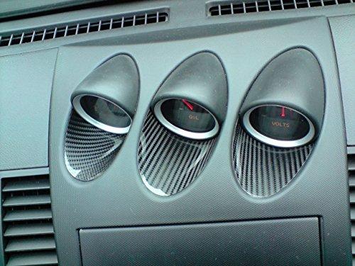 Carbon Einlagen Zusatzanzeigen Center Gauge Interieur passend für 350Z - Gauge Carbon