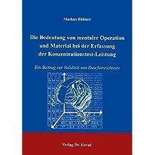Suchergebnis Auf Amazon De Für Konzentrationstest Fachbücher Bücher