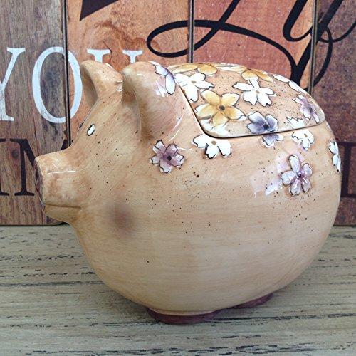 Alice 's Kollektion Keramik Cookies Topf mit Deckel Keramik-Pig-18x 15x 16cm Pig Cookie Jar