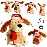 alles-meine.de GmbH XL - singender & Tanzender - Hund -  A Merry Christmas  - inkl. Name - Plüsc..