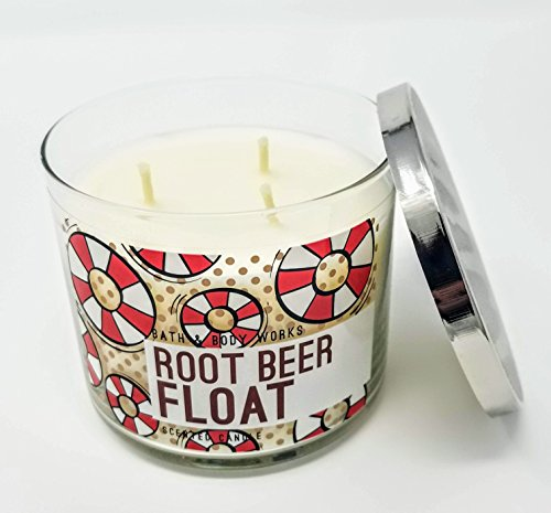 BW Bath and Body Works Root Beer Float 3 Docht Kerze 14,5 Unze (Body Works Vanillas And Bath)