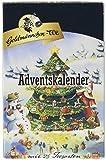 Goldmännchen Tannenbaum Adventskalender mit 24 verschiedenen Teesorten, 1er Pack (1 x 50,55 g)