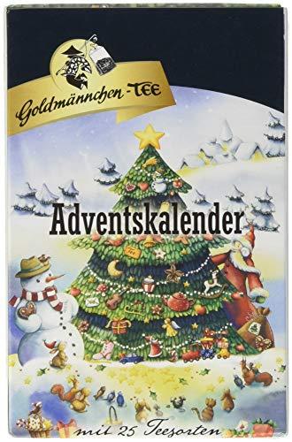 Goldmännchen Tannenbaum Adventskalender