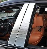 6x Carbon chrom Türzierleisten Verkleidung B Säule Türsäule passend für Ihr Fahrzeug