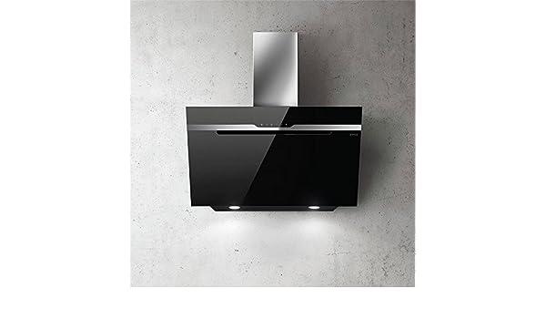 Dunstabzugshaube küche elica wand majestic glas schwarz cm