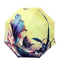 Automatic Umbrella, Green House Folding Travel Umbrella Windproof Sun Rain Umbrella
