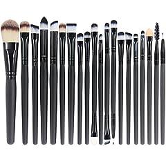 Idea Regalo - EmaxDesign 20 pezzi-Set di pennelli professionali per trucco, volto ombretti e Eyeliner Powder liquido Makeup Brushes Cosmetics-Pennello da sfumatura