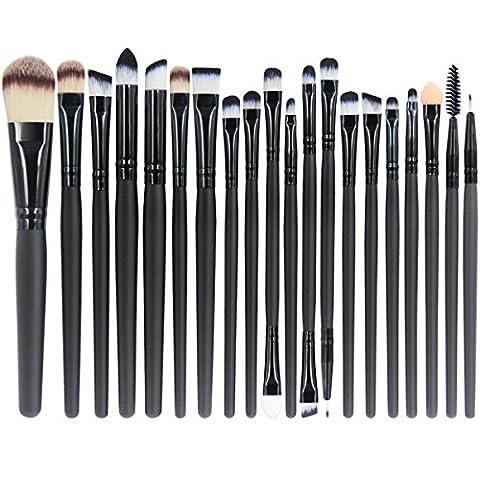 EmaxDesign 20 Pièces Pinceaux de Maquillage Ombre à Paupières Yeux