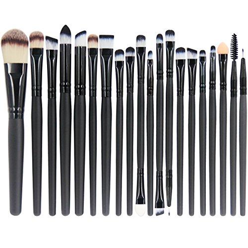 EmaxDesign 20 pezzi-Set di pennelli professionali per trucco, volto ombretti e Eyeliner Powder liquido Makeup Brushes Cosmetics-Pennello da sfumatura