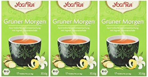 Yogi Tea Grüner Morgen Bio, 3er Pack (3 x 30.6 g)