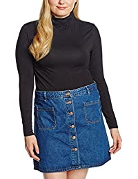 New Look Curves Roll Neck, Camiseta De Manga Larga para Mujer