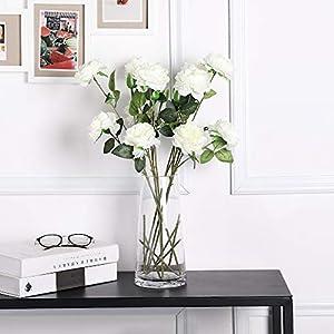 Tifuly 6 Piezas de peonías Artificiales, Flores de simulación de peonía de Seda realistas para centros de Mesa, hogar…