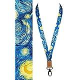 Lanyard | Cool, högkvalitativ snodd för nyckelring/ID/bricka/namnbricka | Van Gogh Sternennacht