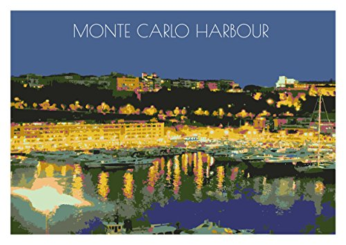 monte-carlo-harbour-poster-print-unframed