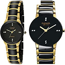 Fabiano New York Analogue Black Dial Unisex Watch(FNY2030)
