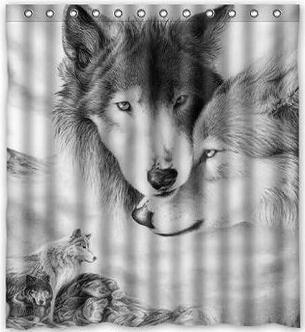 Rideau Animaux - Generic personnalisée loup Love fantastique Wild Animal