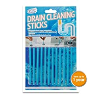 Easy Clean Enzymatic Drain Sticks. Helps Prevent Blockages Forming, Breaks Down Grease, Food & More – 1 Year of Protection Per Packet