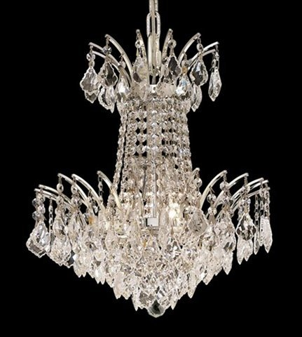 4 Ss Crystal (Elegant Lighting 8033D16C/SS Victoria Collection 4-Light Hanging Fixture with Swarovski Strass/Elements Crystals, Chrome Finish by Elegant Lighting)