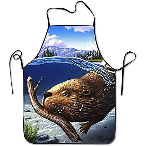Not Applicable Canada Beaver Pflegeleicht für Jugendliche Kochschürzen High Wrinkles Latzschürzen