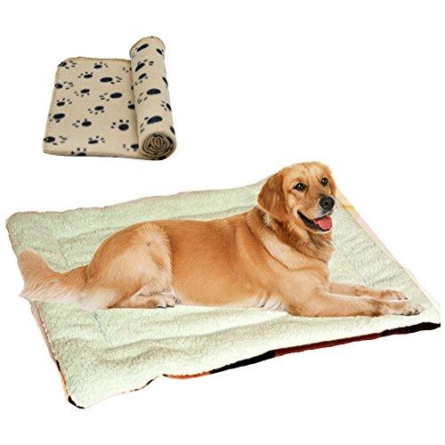 Weiche Betten für großen kleinen Hund Haus neue Ankunft große Hund Große Haustiere Betten weiche hohe Qualität Pad mehrfarbig Katzen Hund Matte (S M L) inkl. Hunde-decken (100*70cm)