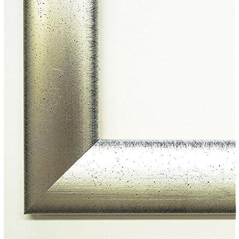 Cornice portafoto Augsburg Giappone banda argento, nero 3,5–vuoto telaio senza vetro, Legno, argento, DIN A3 (29,7 x 42
