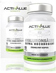Der VERGLEICHSSIEGER 2017/2018*: das Original von Dr.med. Wagner, mikro-molekulare Hyaluronsäure (500-700 kDa), hochdosiert mit 250mg pro Kapsel, geprüfte Rohstoffe und höchste Reinheit, in Deutschland hergestellt.