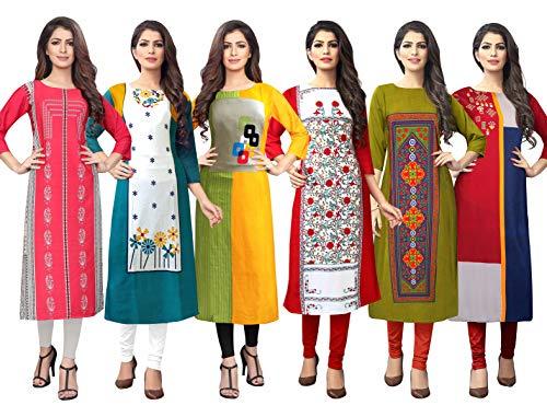 1 Stop Fashion Women's Crepe Regular Kurta