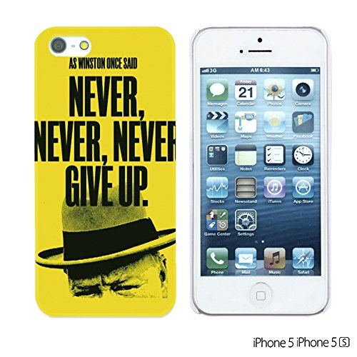 OBiDi - Typography Pattern Hard Back Case / Housse pour Apple iPhone SE / Apple iPhone 5S / 5 - Life Never Give Up