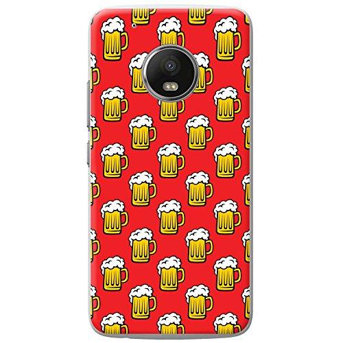 Schaumige weiße Krone auf gelbem Bier Hartschalenhülle Telefonhülle zum Aufstecken für Motorola Moto G5 Play