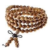 Best Jovivi Friend Wish Bracelets - JOVIVI 6mm Natural Wood Bracelet Link Wrist Necklace Review