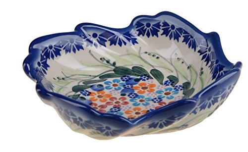 Classic Boleslawiec, Polish Pottery Hand Painted Ceramic Decorative Bowl 200ml, 500-u-008