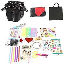 Healifty 17 pcs Explosion Caja álbum de Recortes DIY álbum de Fotos DIY Accesorios Kit Cumpleaños