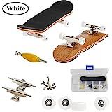 AumoToo Mini-Griffbrett, Professionelle Finger Skateboard Ahorn Holz DIY Montage Skateboarding Spielzeug Sport Spiele Kinder (Weiß)