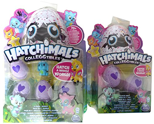 Hatchimals Colleggtibles SET 4 Pack + Bonus sowie 2 Pack + Nest. Zusammen 7 Hatchimals + Nest