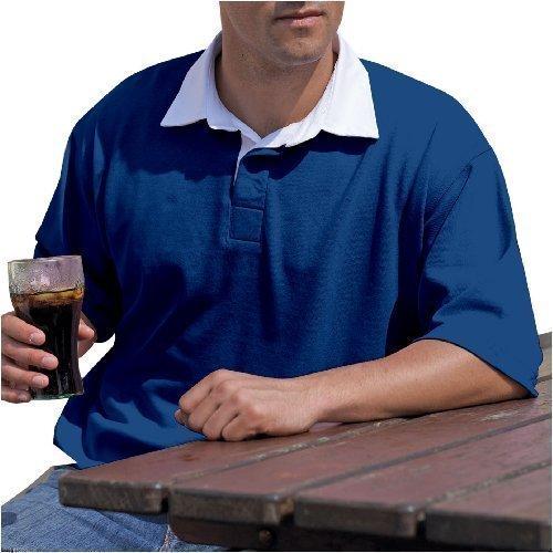Traditionelle Rugby-shirts (Front Row - Herren Rugby Shirt Mit Kurzen Ärmeln - XXL, Marineblau)