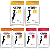 Purepet Adult Smoked Chicken, 1.1 kg (Buy 1 Get 1 Free) & Purepet Fish and Rice Adult Food, 1.1 kg (Buy 1 Get 1 Free) & Purepet Adult Meat and Rice, 1.1 kg (Buy 1 Get 1 Free)