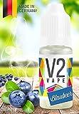 V2 Vape E-Liquid Blaubeere - Luxury Liquid für E-Zigarette und E-Shisha Made in Germany aus natürlichen Zutaten 10ml 0mg nikotinfrei